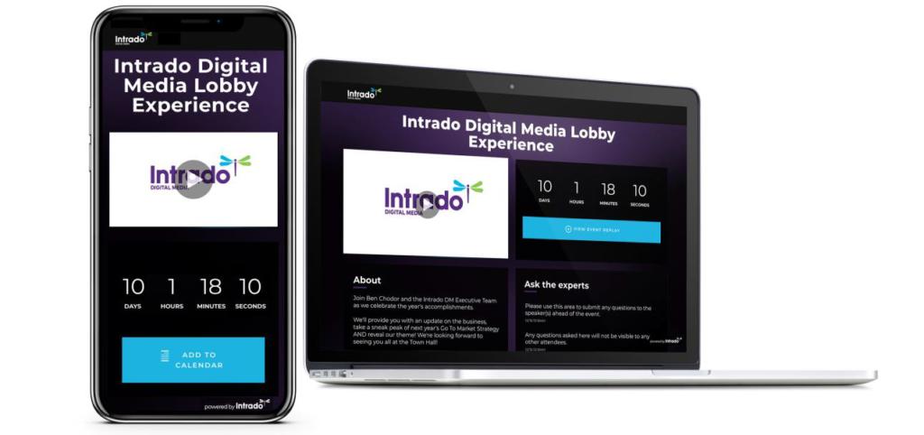 Intrado Event-Lobby | Event-Plattform für mehr Leads