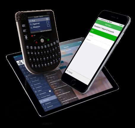 3 Geräte zur Digitalen Abstimmung bei Versammlungen