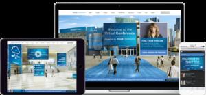 Darstellung Intrado Virtual Events Plattform auf diversen Endgeräten
