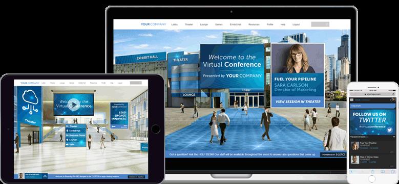 Virtuelle Messe und Konferenzen mit der Intrado Virtual Events Plattform